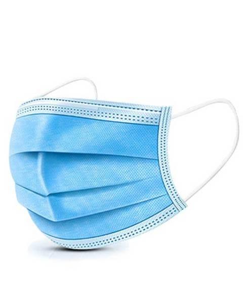 mondkapje blauw 3 laags